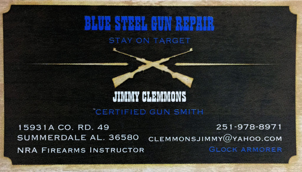 Blue Steel Gun Repair - Jimmy Clemmons - 251-978-8971